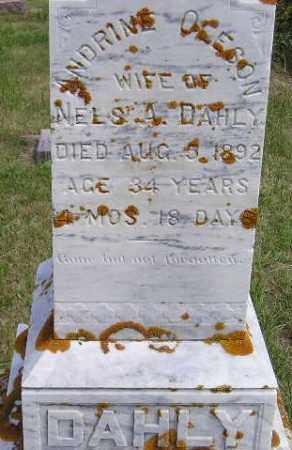 OLSON DAHLY, ANDRINE - Codington County, South Dakota | ANDRINE OLSON DAHLY - South Dakota Gravestone Photos