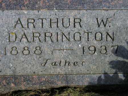 DARRINGTON, ARTHUR W. - Codington County, South Dakota | ARTHUR W. DARRINGTON - South Dakota Gravestone Photos