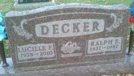 DECKER, LUCILLE F - Codington County, South Dakota | LUCILLE F DECKER - South Dakota Gravestone Photos