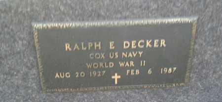 """DECKER, RALF E """"MILITARY"""" - Codington County, South Dakota   RALF E """"MILITARY"""" DECKER - South Dakota Gravestone Photos"""