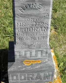 DORAN, ANDREW F. - Codington County, South Dakota | ANDREW F. DORAN - South Dakota Gravestone Photos