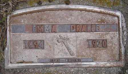 DRALLE, EMMA - Codington County, South Dakota | EMMA DRALLE - South Dakota Gravestone Photos