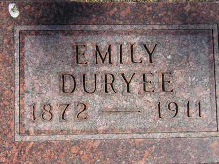 DURYEE, EMILY ESTER - Codington County, South Dakota | EMILY ESTER DURYEE - South Dakota Gravestone Photos