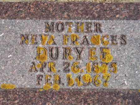 DURYEE, NEVA FRANCES - Codington County, South Dakota | NEVA FRANCES DURYEE - South Dakota Gravestone Photos
