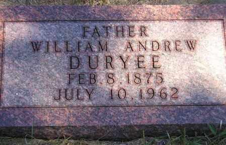 DURYEE, WILLIAM ANDREW - Codington County, South Dakota | WILLIAM ANDREW DURYEE - South Dakota Gravestone Photos