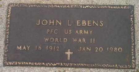 EBENS, JOHN L. - Codington County, South Dakota | JOHN L. EBENS - South Dakota Gravestone Photos