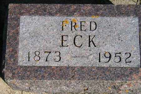ECK, FRED - Codington County, South Dakota | FRED ECK - South Dakota Gravestone Photos