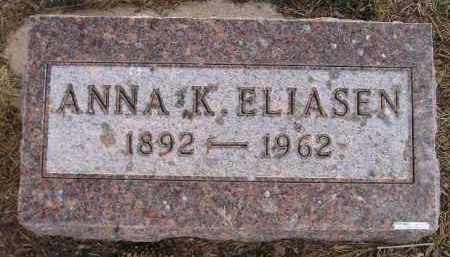 ELIASEN, ANNA K. - Codington County, South Dakota | ANNA K. ELIASEN - South Dakota Gravestone Photos