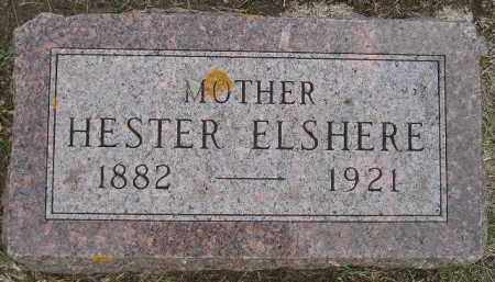 ELSHERE, HESTER - Codington County, South Dakota | HESTER ELSHERE - South Dakota Gravestone Photos