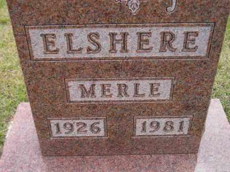 ELSHERE, MERLE - Codington County, South Dakota   MERLE ELSHERE - South Dakota Gravestone Photos