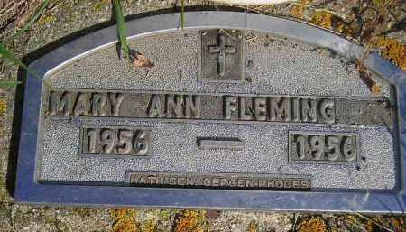 FLEMING, MARY ANN - Codington County, South Dakota   MARY ANN FLEMING - South Dakota Gravestone Photos
