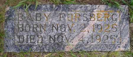 FORSBERG, BABY - Codington County, South Dakota | BABY FORSBERG - South Dakota Gravestone Photos