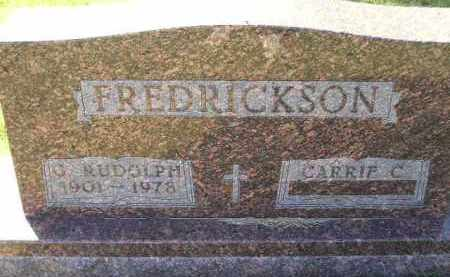 FREDRICKSON, CARRIE C. - Codington County, South Dakota | CARRIE C. FREDRICKSON - South Dakota Gravestone Photos