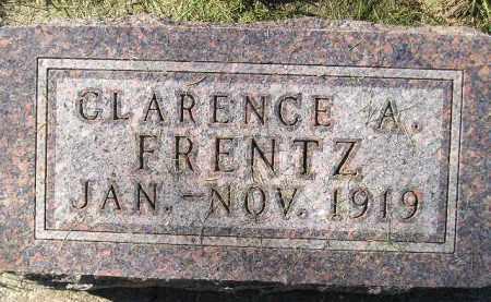 FRENTZ, CLARENCE A. - Codington County, South Dakota   CLARENCE A. FRENTZ - South Dakota Gravestone Photos