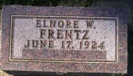 FRENTZ, ELNORE W. - Codington County, South Dakota | ELNORE W. FRENTZ - South Dakota Gravestone Photos