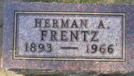 FRENTZ, HERMAN A. - Codington County, South Dakota | HERMAN A. FRENTZ - South Dakota Gravestone Photos