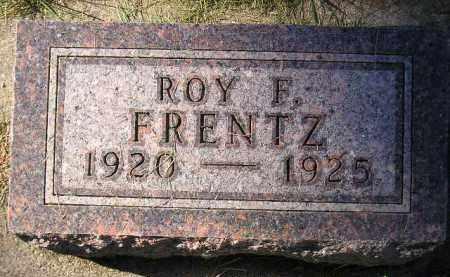 FRENTZ, ROY F. - Codington County, South Dakota | ROY F. FRENTZ - South Dakota Gravestone Photos