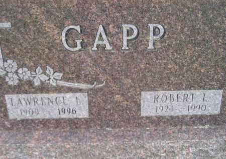 GAPP, ROBERT I. - Codington County, South Dakota | ROBERT I. GAPP - South Dakota Gravestone Photos
