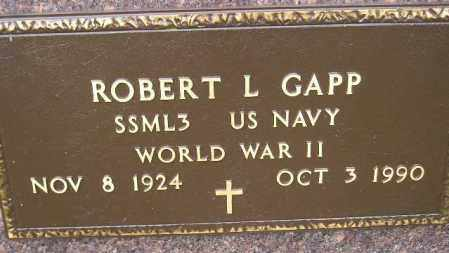 GAPP, ROBERT L. (WW II) - Codington County, South Dakota | ROBERT L. (WW II) GAPP - South Dakota Gravestone Photos