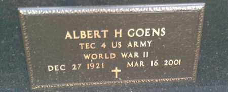 "GOENS ""MILITARY"", ALBERT H - Codington County, South Dakota 