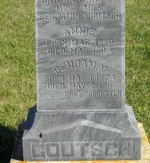 GOUTSCH, ANNIE - Codington County, South Dakota | ANNIE GOUTSCH - South Dakota Gravestone Photos