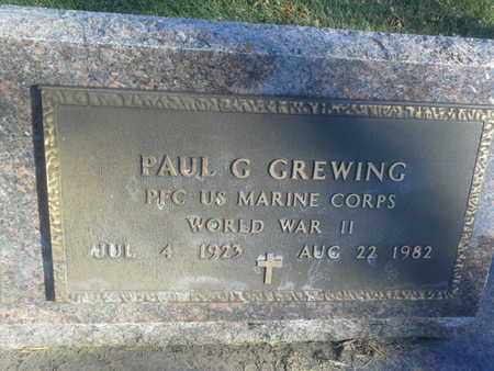 "GREWING, PAUL ""MILITARY"" - Codington County, South Dakota 