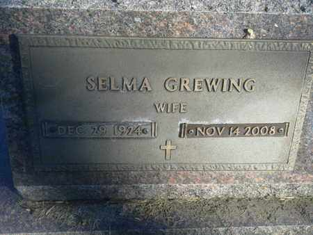 GREWING, SELMA - Codington County, South Dakota | SELMA GREWING - South Dakota Gravestone Photos
