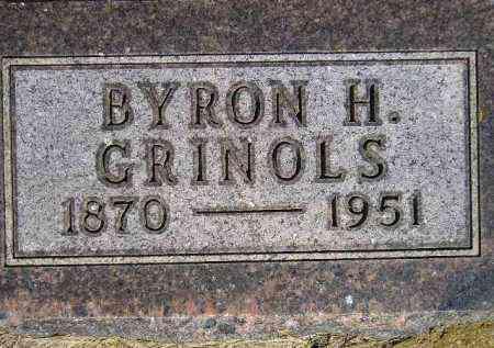 GRINOLS, BYRON H. - Codington County, South Dakota   BYRON H. GRINOLS - South Dakota Gravestone Photos