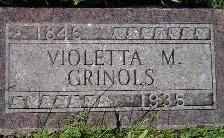 MERRITT GRINOLS, VIOLETTA M. - Codington County, South Dakota | VIOLETTA M. MERRITT GRINOLS - South Dakota Gravestone Photos