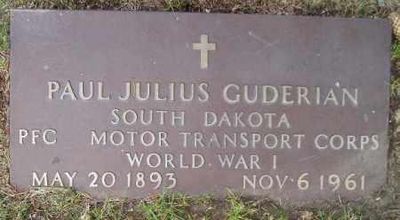 GUDERIAN, PAUL J. (WW I) - Codington County, South Dakota | PAUL J. (WW I) GUDERIAN - South Dakota Gravestone Photos