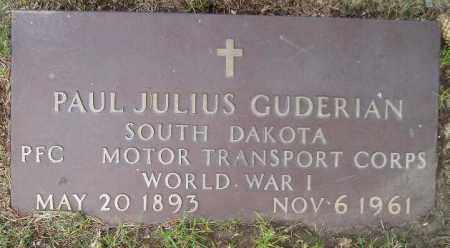 GUDERIAN, PAUL J. (WW I) - Codington County, South Dakota | PAUL J. (WW I) GUDERIAN - South Dakota Gravestone Photos