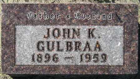 GULBRAA, JOHN K. - Codington County, South Dakota   JOHN K. GULBRAA - South Dakota Gravestone Photos