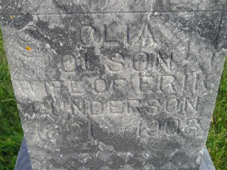 OLSON GUNDERSON, OLIA - Codington County, South Dakota   OLIA OLSON GUNDERSON - South Dakota Gravestone Photos