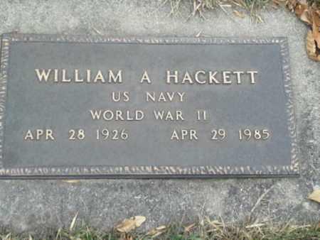 "HACKETT, WILLIAM A"" MILITARY"" - Codington County, South Dakota | WILLIAM A"" MILITARY"" HACKETT - South Dakota Gravestone Photos"