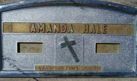 HALE, AMANDA - Codington County, South Dakota | AMANDA HALE - South Dakota Gravestone Photos