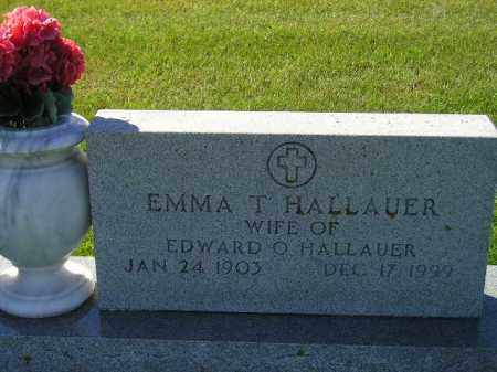 RIES HALLAUER, EMMA T. - Codington County, South Dakota | EMMA T. RIES HALLAUER - South Dakota Gravestone Photos