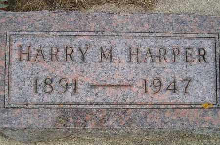 HARPER, HARRY M. - Codington County, South Dakota | HARRY M. HARPER - South Dakota Gravestone Photos