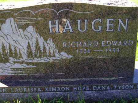 HAUGEN, RICHARD - Codington County, South Dakota | RICHARD HAUGEN - South Dakota Gravestone Photos