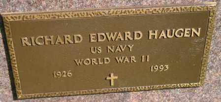 HAUGEN, RICHARD EDWARD (WW II) - Codington County, South Dakota | RICHARD EDWARD (WW II) HAUGEN - South Dakota Gravestone Photos
