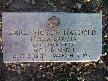 HAYFORD, EARL VICTOR    MILITARY - Codington County, South Dakota | EARL VICTOR    MILITARY HAYFORD - South Dakota Gravestone Photos