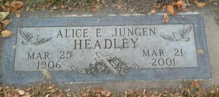 HEADLEY, ALICE E - Codington County, South Dakota | ALICE E HEADLEY - South Dakota Gravestone Photos