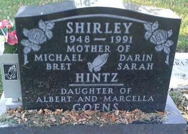 HINTZ, SHIRLEY - Codington County, South Dakota | SHIRLEY HINTZ - South Dakota Gravestone Photos