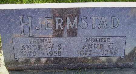 FAEHM HJERMSTAD, ANNE CHRISTINE - Codington County, South Dakota | ANNE CHRISTINE FAEHM HJERMSTAD - South Dakota Gravestone Photos