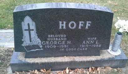 HOFF, GEORGE H - Codington County, South Dakota | GEORGE H HOFF - South Dakota Gravestone Photos