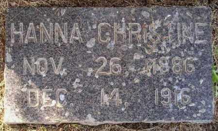 HOGSTAD, HANNA CHRISTINE - Codington County, South Dakota   HANNA CHRISTINE HOGSTAD - South Dakota Gravestone Photos