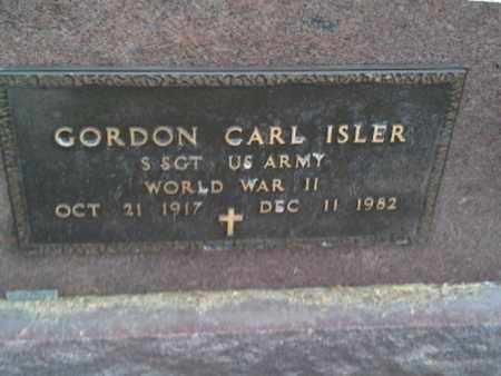 "ISLER, GORDON CARL ""MILITARY"" - Codington County, South Dakota 