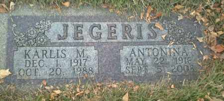 JEGERIS, KARLIS M - Codington County, South Dakota | KARLIS M JEGERIS - South Dakota Gravestone Photos