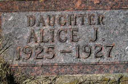 JOHNSON, ALICE JULIET - Codington County, South Dakota   ALICE JULIET JOHNSON - South Dakota Gravestone Photos