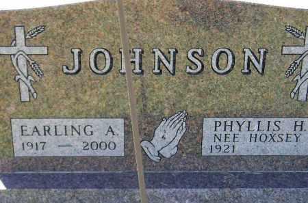 JOHNSON, EARLING ARTHUR - Codington County, South Dakota | EARLING ARTHUR JOHNSON - South Dakota Gravestone Photos