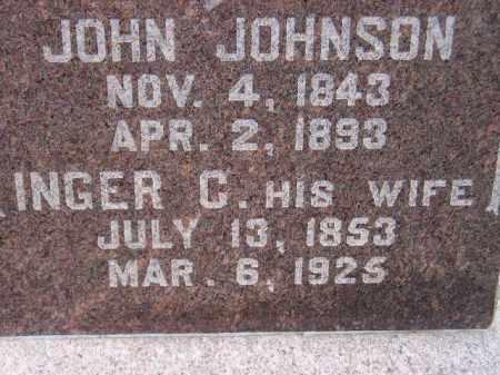 JOHNSON, INGER C. - Codington County, South Dakota | INGER C. JOHNSON - South Dakota Gravestone Photos